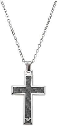 Emporio Armani Stainless Steel Mens Cross Necklace