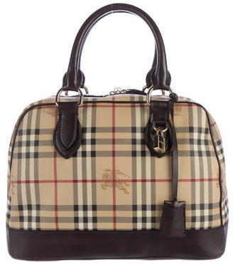 Burberry Burberry Haymarket Check Bowler Bag