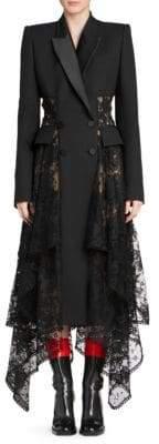 Alexander McQueen Lace Tuxedo Dress
