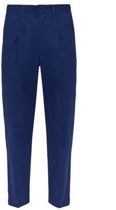 Saturdays NYC Varrick Cotton Trousers - Mens - Blue
