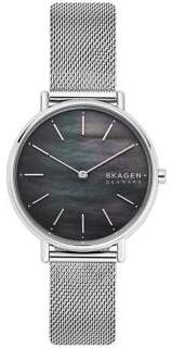 Skagen Signatur Slim Stainless Steel & Mother-Of-Pearl Mesh Bracelet Watch