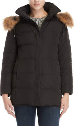 Ookpik Real Fur Trim Hooded Down Coat