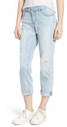 Caslon Distressed Boyfriend Jeans (Regular & Petite)