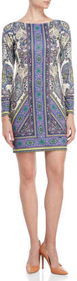 Hale Bob Boatneck Paisley Sheath Dress