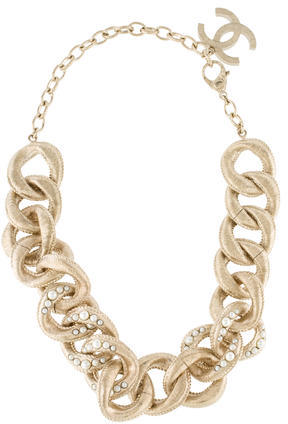 Chanel Chanel Faux Pearl Accent Chain Choker Necklace
