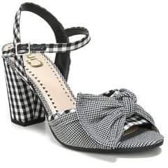 Sam Edelman Eva Checkered Heel Sandals