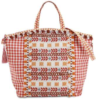 Cotton Jacuqard & Lace Tote Bag