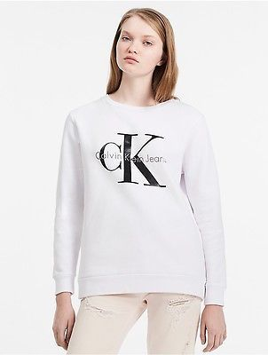 Calvin Klein Calvin Klein Womens Cotton French Terry Logo Sweatshirt
