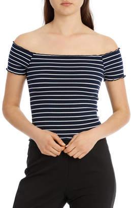 Bardot Leah Off Shoulder Top