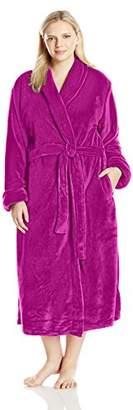 "Casual Moments Women's Plus Size 50"" Set in Belt Wrap Robe"