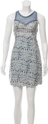 Ermanno Scervino Printed Silk Dress