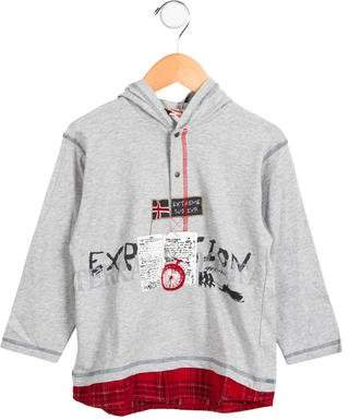 Catimini Boys' Hooded Long Sleeve Shirt w/ Tags