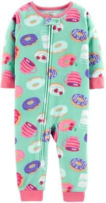 Carter's Baby Girl Printed Microfleece Footless Pajamas