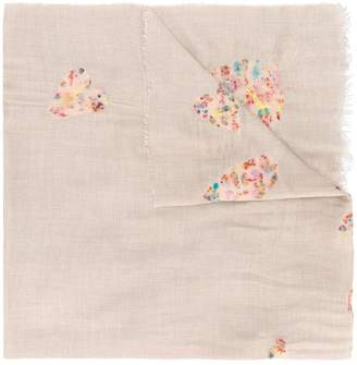 Faliero Sarti heart embroidered scarf