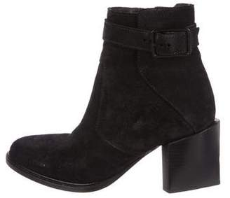 Helmut Lang Suede Ankle Booties
