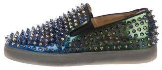 Christian Louboutin Roller-Boat Flat Spikes Sneakers