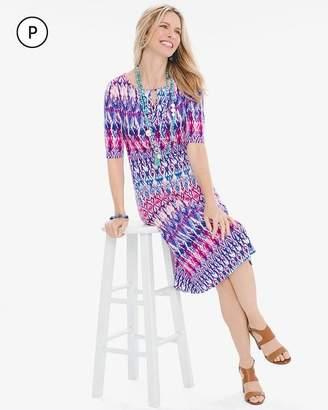 Petite Pastel Ikat Keyhole Dress