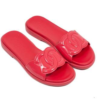 Chanel Red Patent leather Sandals