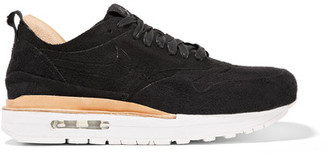 Nike - Nikelab Air Max 1 Royal Faux Suede And Leather Sneakers - Black $250 thestylecure.com
