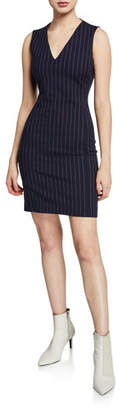 Rag & Bone Lexi Striped V-Neck Sleeveless Dress