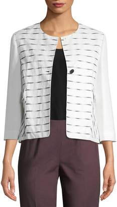 Piazza Sempione Women's Striped Cotton Jacket