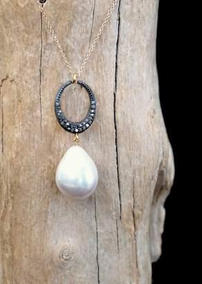 Designs By Alina Diamond Pearl Drop Necklace