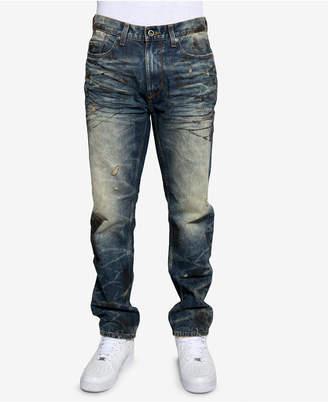 Sean John Men's Volcano Slim-Fit Stretch Destroyed Jeans