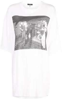 R 13 オーバーサイズ プリント Tシャツ