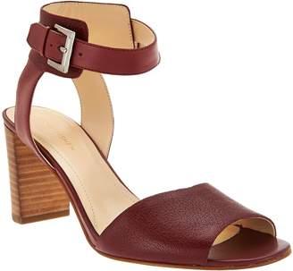 Marc Fisher Leather Ankle Strap Block Heel Sandals - Genette
