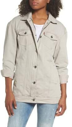 Levi's Oversize Cotton Canvas Trucker Jacket
