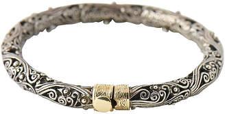 One Kings Lane Vintage Sterling & Gold Filigree Bracelet - Owl's Roost Antiques