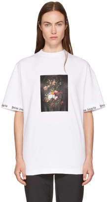 Palm Angels White Flower Pot T-Shirt