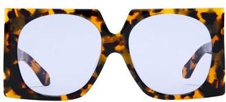 Karen Walker Return To Sender Acetate Sunglasses - Womens - Tortoiseshell