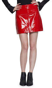Haley Patent Leather Mini Skirt