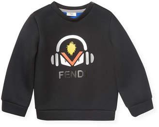 Fendi Crewneck Solid Sweater