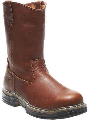 Wolverine Mens Raider Slip Resistant Steel Toe Work Boots Pull-on
