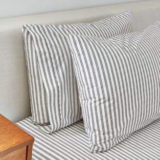 Splendid Ticking Stripe King Pillowcase, Pair