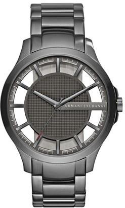 Men's Ax Armani Exchange Skeleton Dial Bracelet Watch, 46Mm $180 thestylecure.com