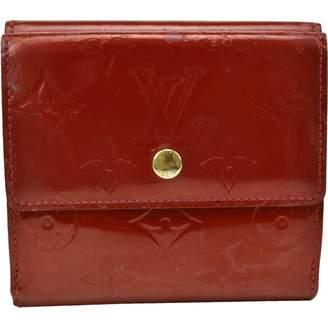 Louis Vuitton Vintage Red Patent leather Wallets