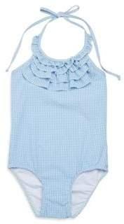 Shoshanna Little Girl's & Girl's One-Piece Mini Gingham Ruffled Swimsuit