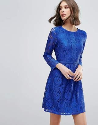 Yumi Lace Detail Skater Dress
