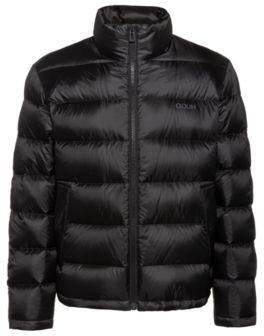 Relaxed-fit down jacket with reversed logos