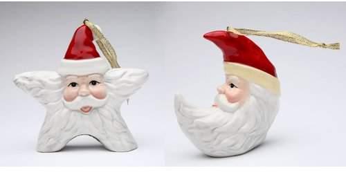 The Holiday Aisle Santa Moon and Star Hanging Figurine