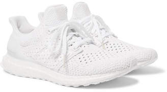 adidas UltraBOOST Rubber-Trimmed Primeknit Sneakers - White