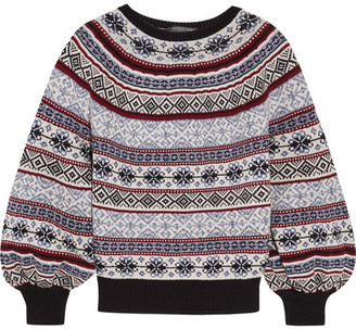 Alexander McQueen - Fair Isle Knitted Sweater - Navy $1,195 thestylecure.com