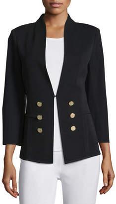 Misook 3/4-Sleeve Button-Front Jacket, Plus Size