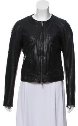 Calvin Klein Collection Zip-Up Leather Jacket