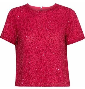 Alice + Olivia Ao.la By Piera Embellished Chiffon T-Shirt