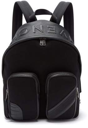 Givenchy Mc3 Canvas And Leather Backpack - Mens - Black