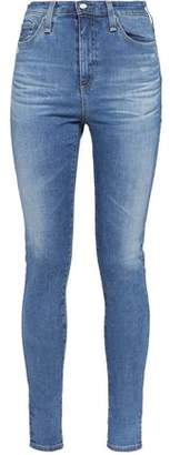 AG Jeans Distressed High-Rise Skinny Jeans